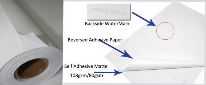 50 Meters Inkjet Sticker Matte Coated Paper With Self