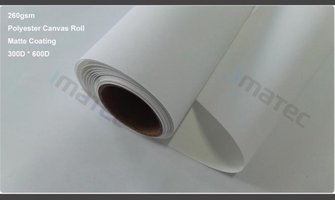 Large Format Matte Polyester Canvas Rolls For Art Inkjet