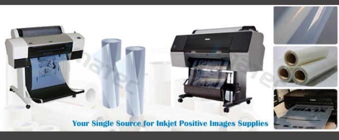 Positive Inkjet Screen Printing Film PET Base Material 143±2 Dmax 1400 DPI