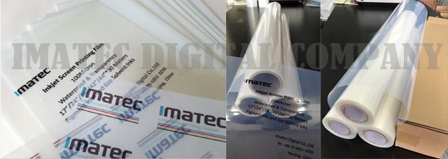 PET Clear Transparency Inkjet Screen Printing Film