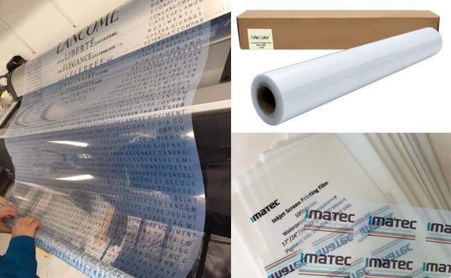 Waterproof a3 a4 inkjet transparency film for screen pigment inks printing