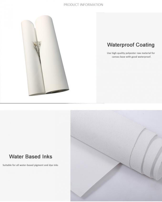 "Matte Poly Cotton Inkjet Cotton Canvas Water Based 36"" 42"" CE Approval"