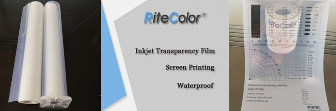100 Micron Pigment Waterproof Inkjet Screen Printing Film Positive PET