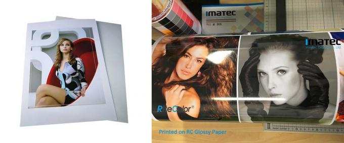 A3 A4 Customized 260gsm Glossy Inkjet Printable Resin Coated Photographic Paper