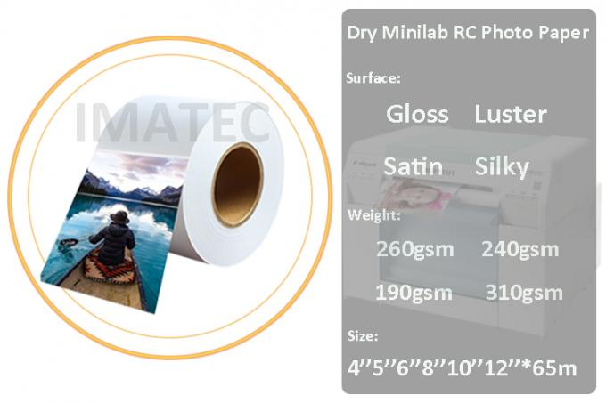 Premium 24 inch high gloss RC photo paper for water based Canon inkjet digital printing