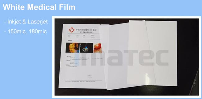 A4 A3 Digital Inkjet Medical Ultrasound Film White Medical Film For X Ray