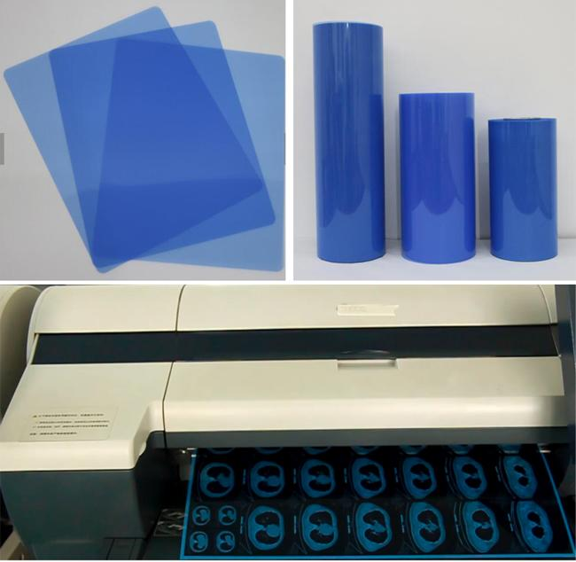 "A4 14"" X 17"" Inkjet Blue Medical Dry Film For Digital X Ray CT DR MRI Blue Color"