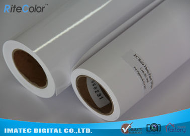 China Inkjet Microporous Satin Finish Photo Paper , 260GSM Digital Printing RC White Paper factory