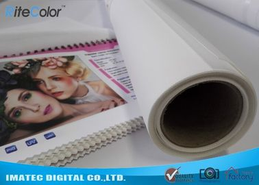 Photographic Polyester Canvas Rolls 280gsm , Digital Printing Pure Polyester Fabric