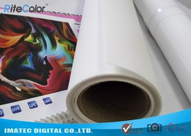 Art Matte Polyester Fabric Roll Indoor Inkjet Large Format Canvas 30m Length