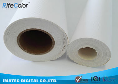 China 410Gsm Inkjet Cotton Canvas Roll , 20Mil Inkjet Printable Canvas Good Ink Absorbable supplier