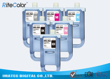 China Pigment Wide Format Inks / 700mL Ink Cartridges for Canon iPF8400S iPF8000 Printers factory