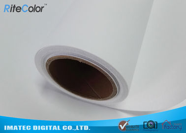 China Waterproof Matte Polyester Solvent Canvas Rolls For Roland / Mimaki / Mutoh Printers factory