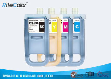 China iPF Printers Pigment PFI 706 Canon Lucia Ink imagePrograf iPF8400 / iPF9400 Ink 700ML factory