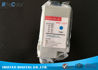 Vivid Color Wide Format Inks Compatible 130 ML PFI 107 For Canon IPF770 IPF780 Printers