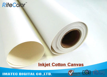 Waterproof Pigment Matte Inkjet Cotton Canvas For Canon HP Epson Plotter