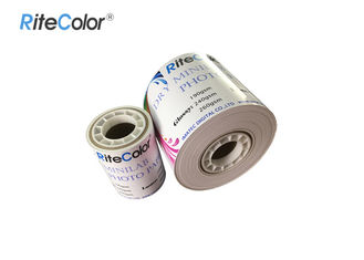 China Inkjet RC Dry Minilab Glossy / Luster / Satin Photo Paper Roll For Fuji Dx100 factory