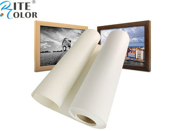 Poly Cotton Inkjet Printing Canvas Roll Waterproof Acid Free For Canon / Epson / HP