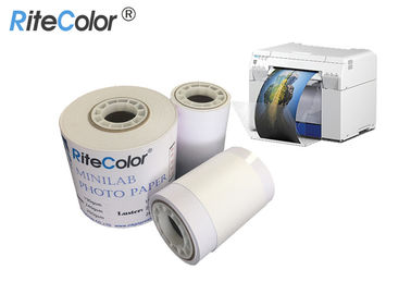 "5"" 6"" 8"" RC Inkjet Printable Glossy Dry Minilab Photo Paper 240gsm For Museum"