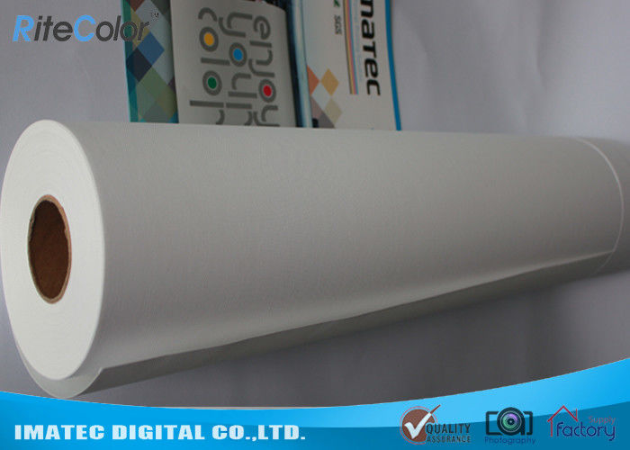 Inkjet Matte Water Resistant Polyester Fabric Roll 220Gsm For Pigment Digital Printing