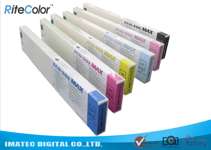 Odorless Wide Format Inks , 440ML Eco Sol Max Ink Cartridges With Chips