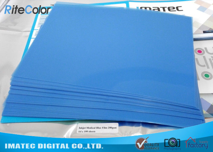 Blue Medical Imaging Film X - ray , Hospital Blue Sensitive Film 280gsm