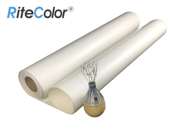 Waterproof Glossy Poly Cotton Canvas Roll For Eco Solvent Printing