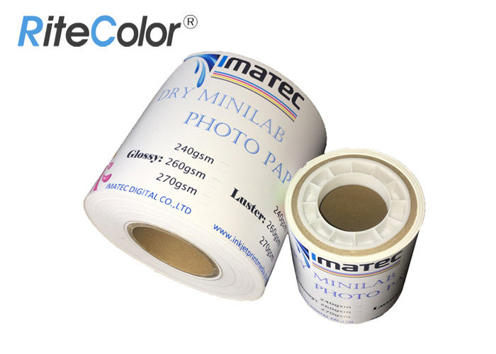 "Inkjet 4"" 5"" 6"" X 65M Glossy Minilab Photo Paper Roll For Fuji / Epson"