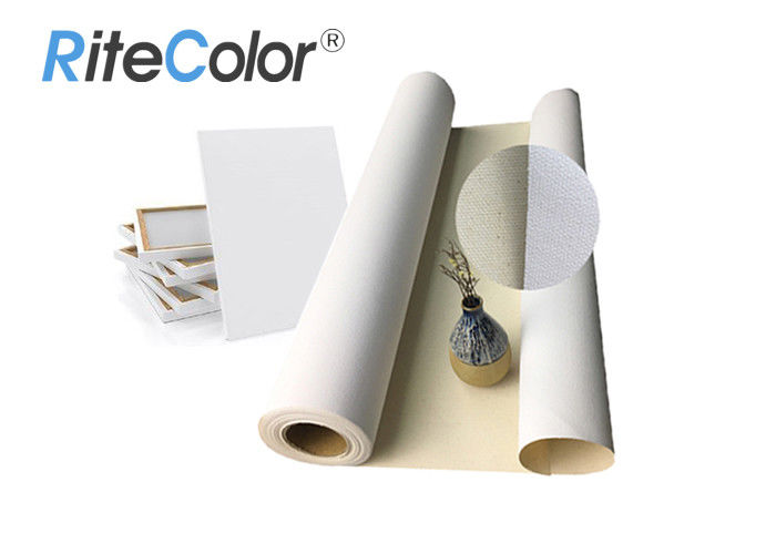 Acid Free 360g Pure Inkjet Cotton Canvas Matte Surface For Large Format Printing