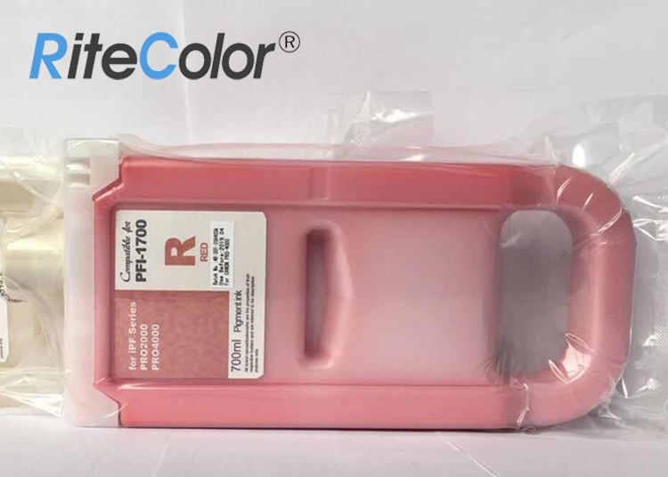 Cartridge 700ML Wide Format Inks PFI 1700 Inks 12 Colors For Canon PRO4000 / PRO4000S