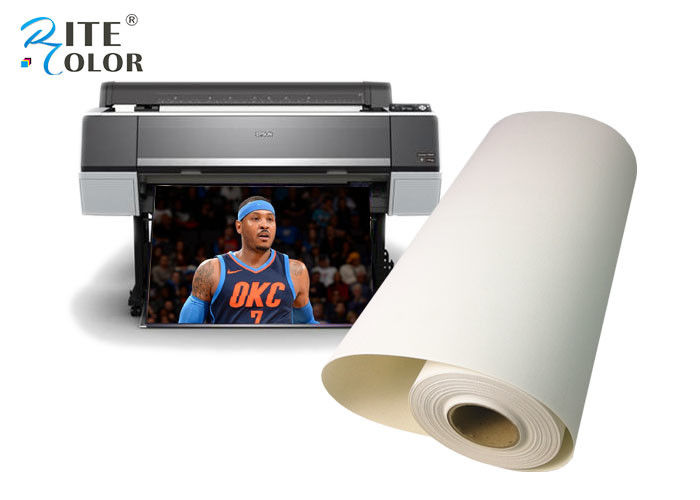 Interior Decoration Polyester Canvas Rolls Inkjet Print Artist Matte Water Based 380gsm