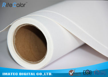 China 410Gsm Inkjet Printing Canvas Roll , Water Resistant Printable Canvas Paper Roll factory