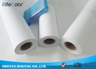 "China 42"" / 44"" Matte Coated Inkjet Paper Rolls Wide Format Printing Anti Fading factory"