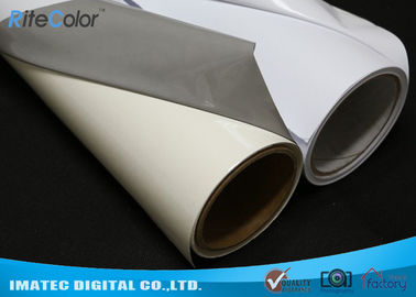 China Aqueous Inkjet Media Supplies Grey Base Waterproof Self - Adhesive Matte PVC Vinyl roll distributor