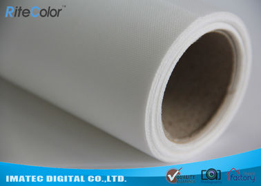 Waterproof Stretchable Inkjet Polyester Canvas Rolls 260Gsm For Poster / Display