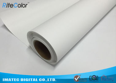 China Bright White Glossy Latex Media Digital Printing Polyester Canvas Fabric Roll distributor