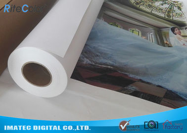 China 380gsm Matte Eco Solvent Printable Canvas , Plotter Inkjet Cotton Canvas Rolls factory