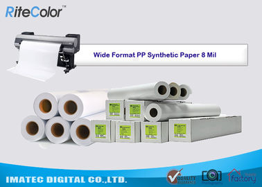 China Tear Resistance PP Synthetic Paper 8 Mil Water - Based Matte Polypropylene Film factory