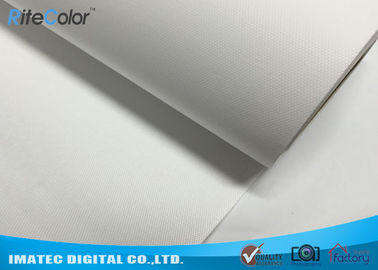 China 260g Eco Solvent Media , Bright White Matte Polyester Digital Printing Canvas Roll distributor