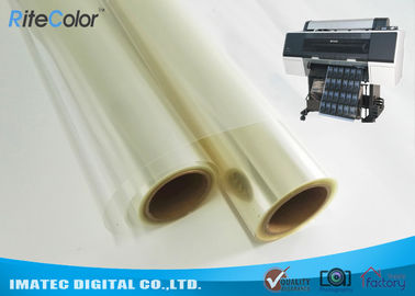 China One-Side Coated Inkjet Film Roll , Eco Solvent Inkjet Transparency Film distributor