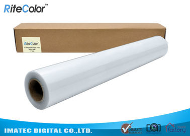 China Transparent Waterproof Inkjet Film 24'' x 100' 100mic / Pet Clear Film distributor