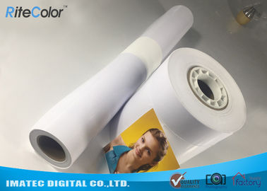 China 24 44inch Large Format Premium RC Coated Glossy Inkjet Print Photo Paper distributor