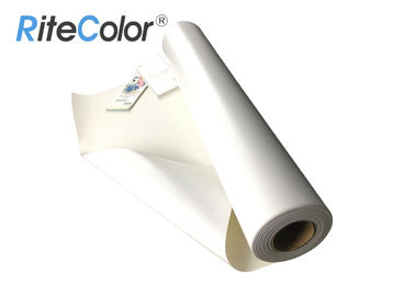 China 24 44 inkjet blank glossy polyester cotton canvas roll with eco solvent inks distributor