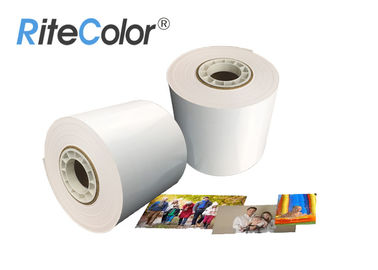 China Glossy Inkjet Dry Minilab Photo Paper Roll 240gsm 6 Inches Luster For Fuji DX100 factory