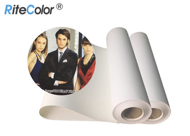 China 30 Meters Length Inkjet Cotton Canvas 360gsm Matte Finish Pigment Dye Ink Printing factory