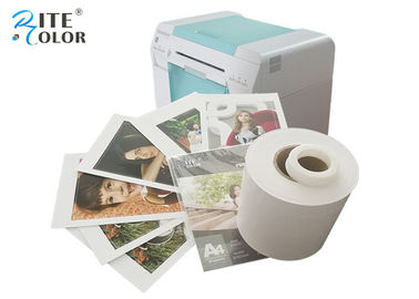 China White Dry Lab Glossy Photo Paper Roll Inkjet For Noritsu D701 D502 Printer factory