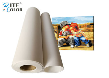Ink Jet Matt Polyester Canvas Rolls 260gsm 300d * 600d Density For Printing