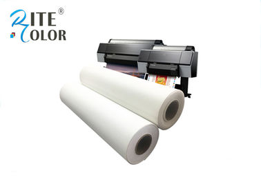 China Glossy Inkjet Cotton Canvas Roll , 400gsm White Silky Digital Printing Canvas factory