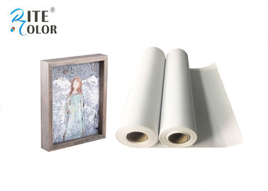 China Waterproof 280gsm Matte Polyester Canvas Rolls Single Side For Giclee Inkjet Printing factory