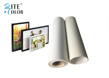 China Stretched Polyester Canvas Rolls , Waterproof Matte Inkjet Digital Canvas Printing 260gsm factory